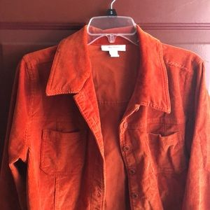 Corduroy Jacket In Rust